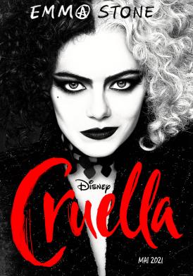 Affiche du film Cruella au cinéma Paradiso de St MArtin en Haut
