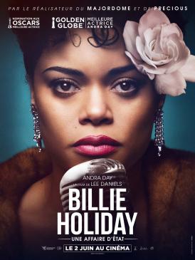 Affiche du film Billie Holiday, une affaire d'état au cinéma Paradiso de St MArtin en Haut