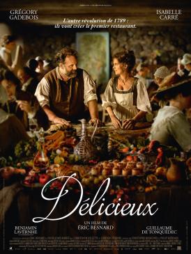 Affiche du film Délicieux au cinéma Paradiso de St MArtin en Haut